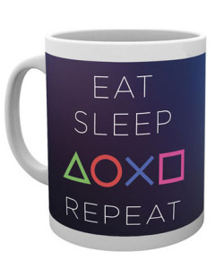 Sony PlayStation - hrnek Eat Sleep