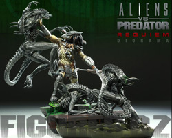Aliens vs. Predator Requiem Diorama