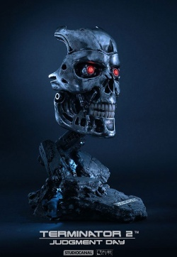Terminator 2 Judgment Day - Replica 1/1 T-800 Endoskeleton Mask 46 cm | Figures.cz