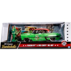 Batman - DC Bombshells Diecast Model Hollywood Rides 1/24 1953 Chevy Bel Air Hard Top s figurkou Poison Ivy | Figures.cz